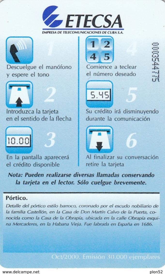 11953 - SCHEDA TELEFONICA - CUBA - USATA - Cuba