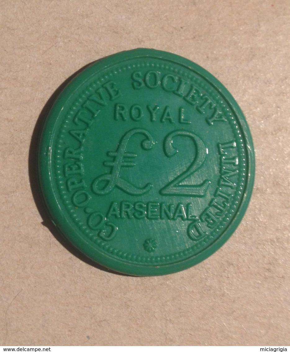 TOKEN JETON GETTONE COOPERATIVE SOCIETY LIMITED ARSENAL ROYAL 2 £ - Monétaires/De Nécessité