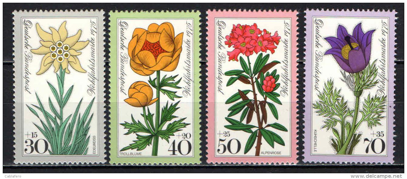 GERMANIA - 1975 - SERIE FIORI DELLE ALPI - FLOWERS - MNH - Ungebraucht