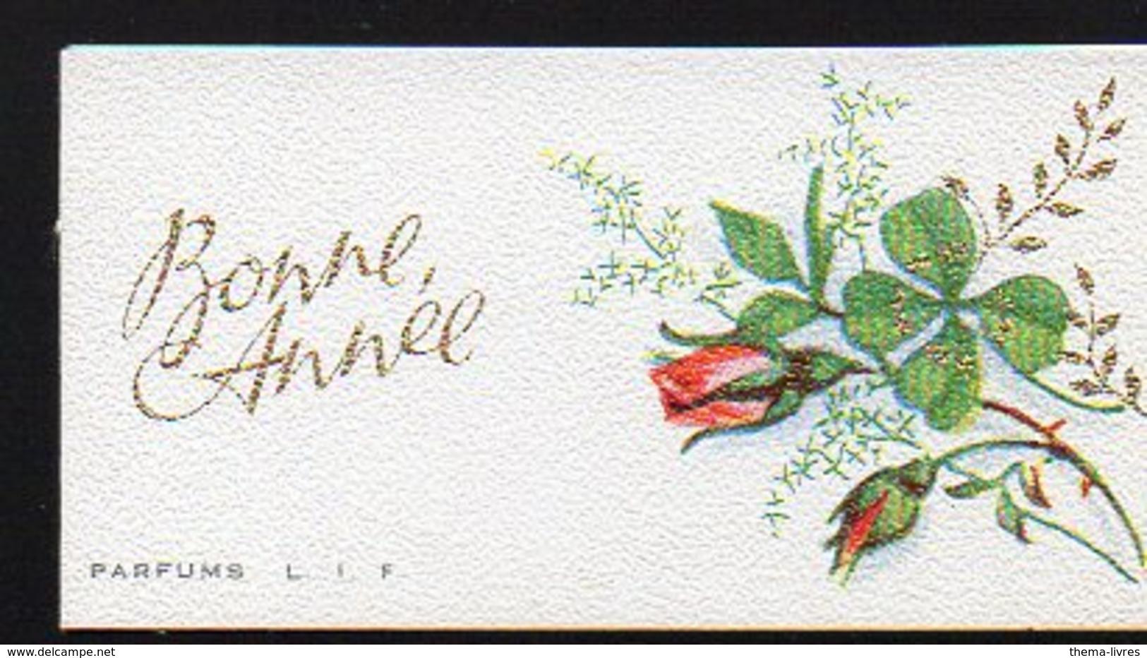 Carte Parfumée : Parfums L.I.F. Bonne Année (avec Rose En Bouton) (PPP12017) - Perfume Cards