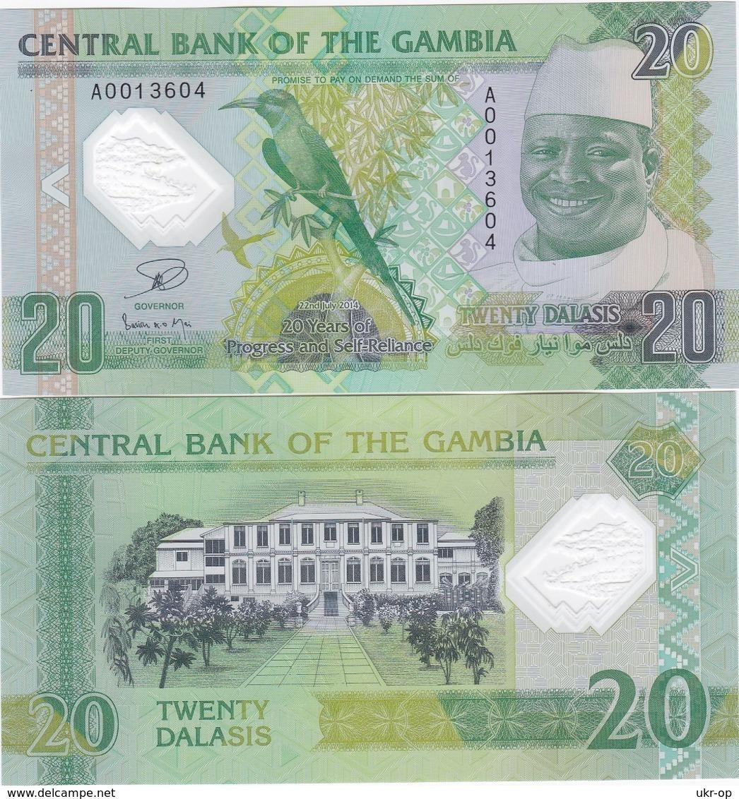 Gambia - 20 Dalasis 2014 2015 UNC Comm. Polymer Ukr-OP - Gambia