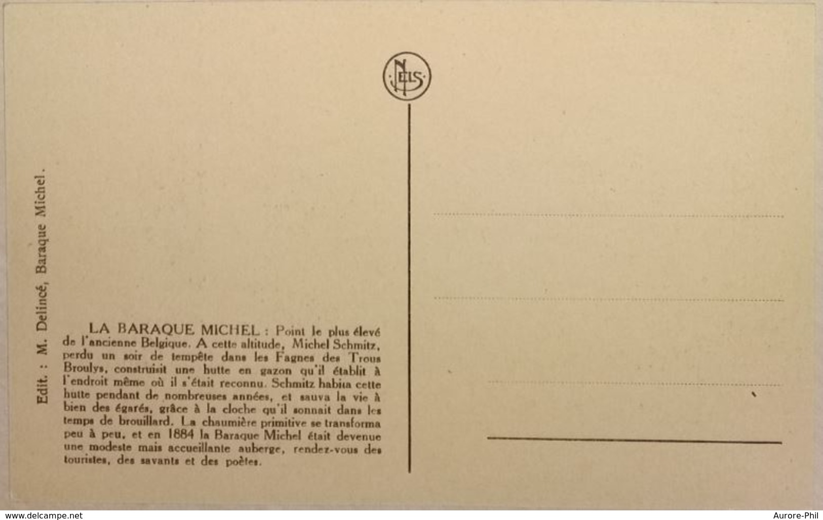 La Baraque Michel Sous La Neige Hiver 1925-26 (Gendarme, Garde Chasse ?) - Waimes - Weismes