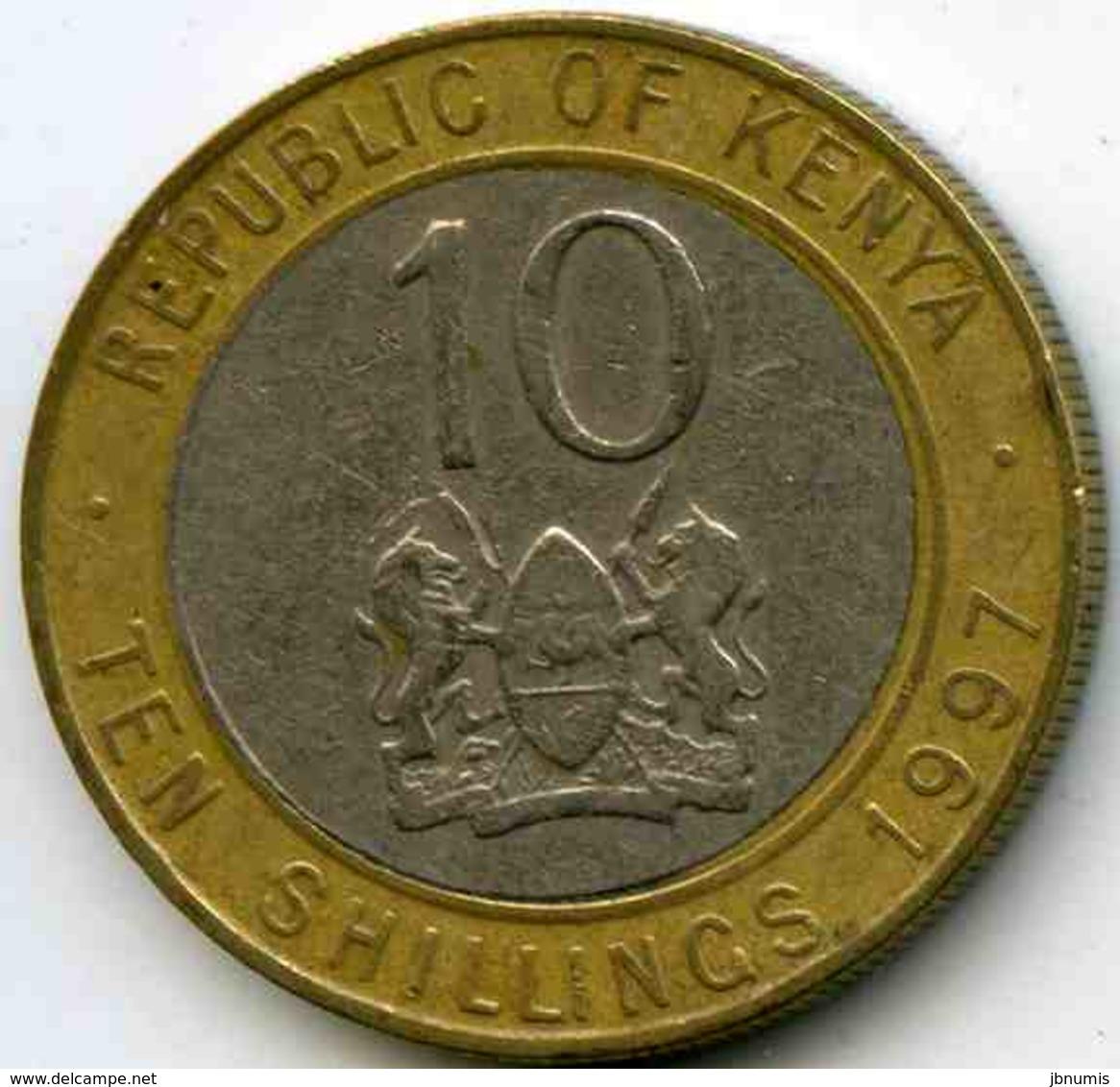 Kenya 10 Shillings 1997 KM 27 - Kenya