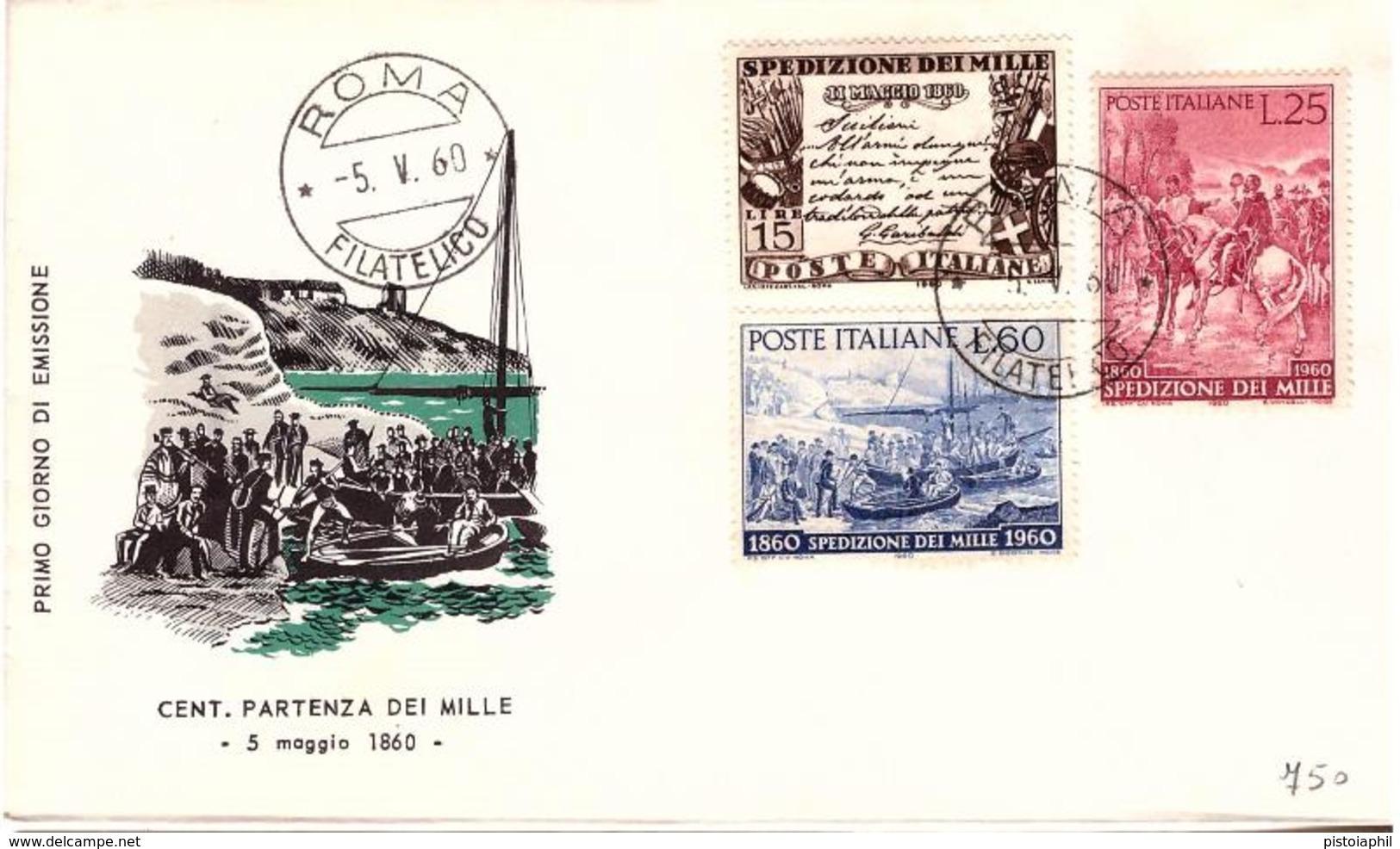 Fdc Milvio: SPEDIZIONE MILLE (1960); No Viaggiata; AF_Roma - F.D.C.