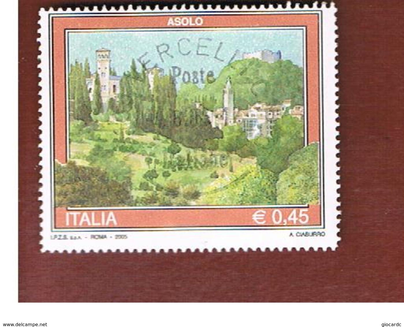 ITALIA REPUBBLICA  -   2005   TURISTICA: ASOLO    -   USATO  ° - 6. 1946-.. Repubblica