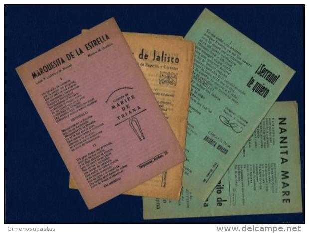 LOTE - 4 Antiguos (Pliegos De Cordel) - Programas