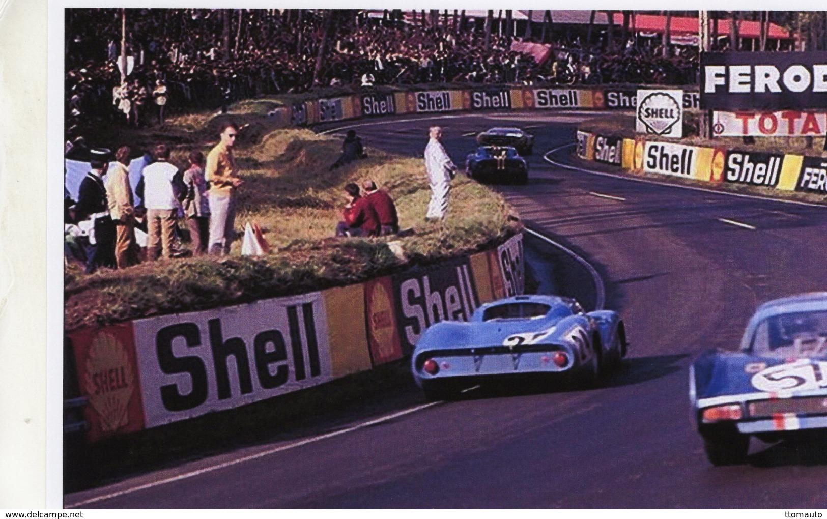 24 Heures Du Mans 1968  -  Matra MS630 (Pescarolo/Servoz-Gavin) Passes Alpine-Renault A210   -  15x10 PHOTO - Le Mans