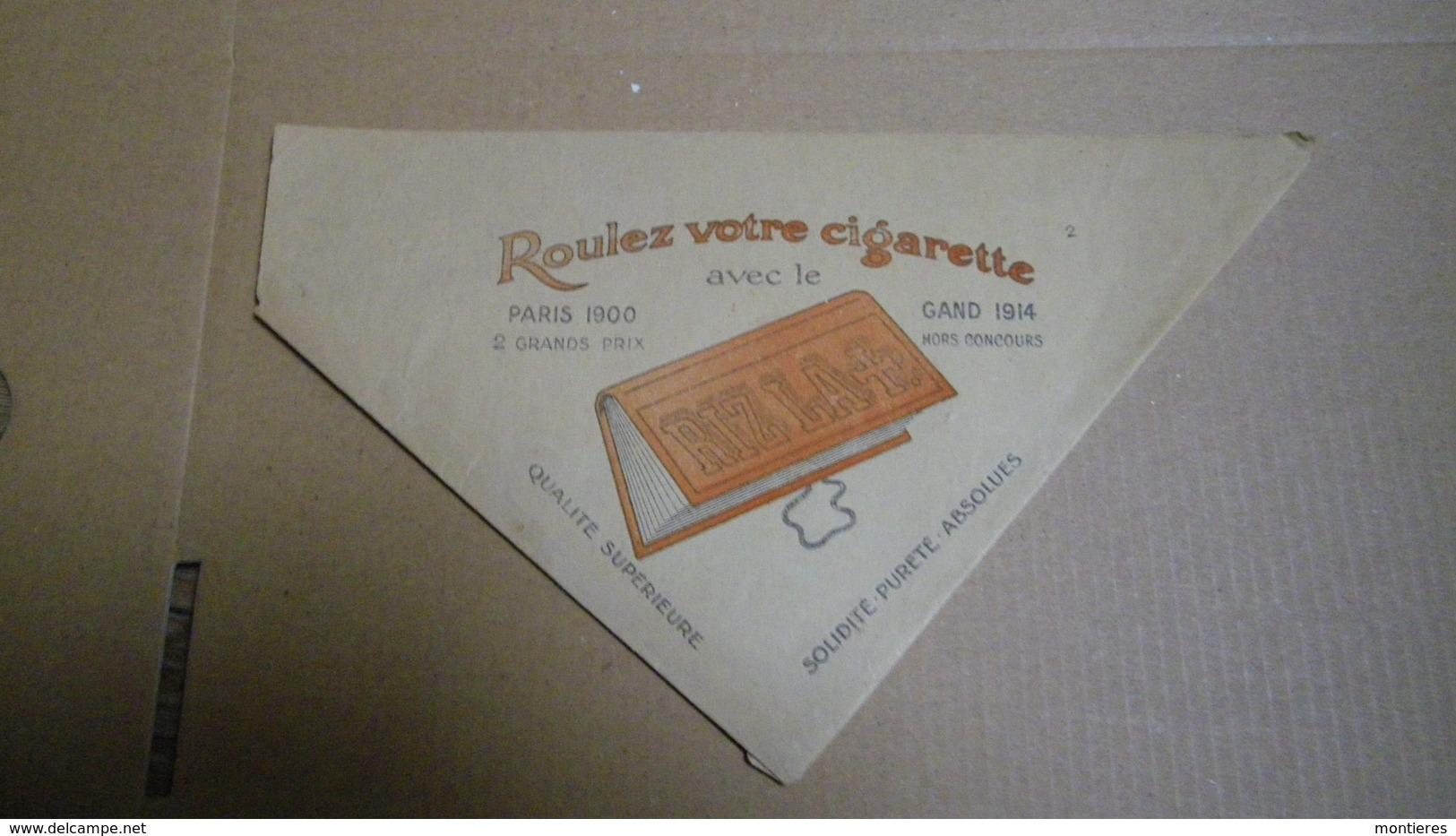 Blague à Tabac En Papier Publicitaire RIZ LA + Roulez Votre Cigarette Avec Le Papier RIZLA - Boites à Tabac Vides