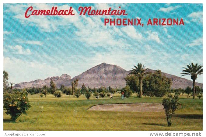 Arizona Phoenix Camelback Mountain Showing Golf Course