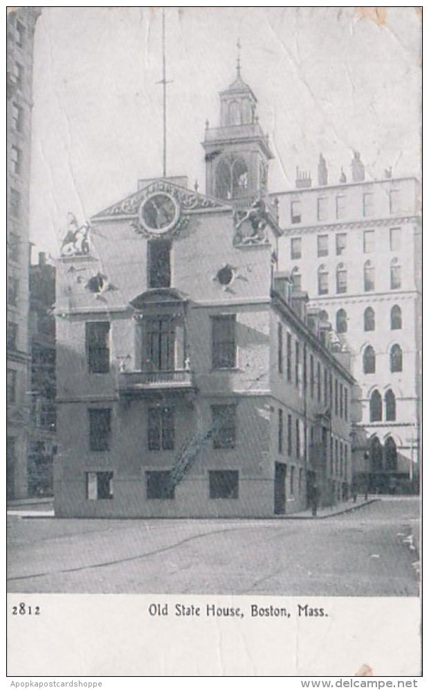Massachusetts Boston Old State House 1910