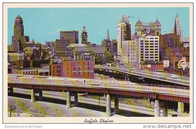 New York Buffalo Skyline & Skyway Bridge