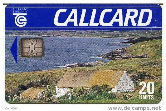 @+ Irlande - Cottage - 20U - Puce SC6 - Verso Marlborough St - Irlande