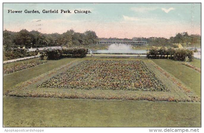 Illinois Chicago Flower Garden In Garfield Park 1915