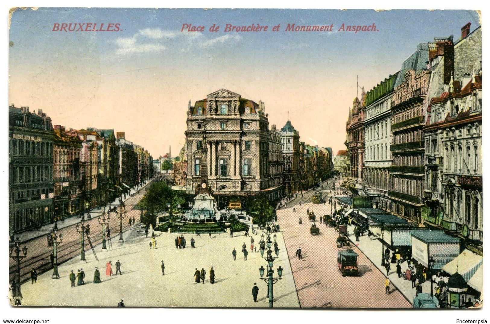 CPA - Carte Postale - Belgique - Bruxelles - Place De Brouckère Et Monument Anspach - 1914 (CP2790) - Santé, Hôpitaux