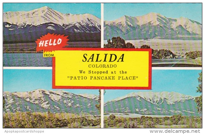 Colorado Greetings Hello From Salida Multi View