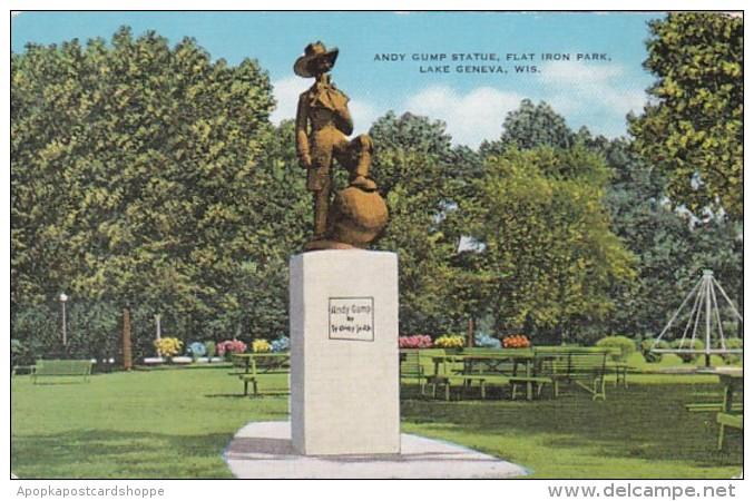 Wisconsin Lake Geneva Andy Gump Statue Flat Iron Park