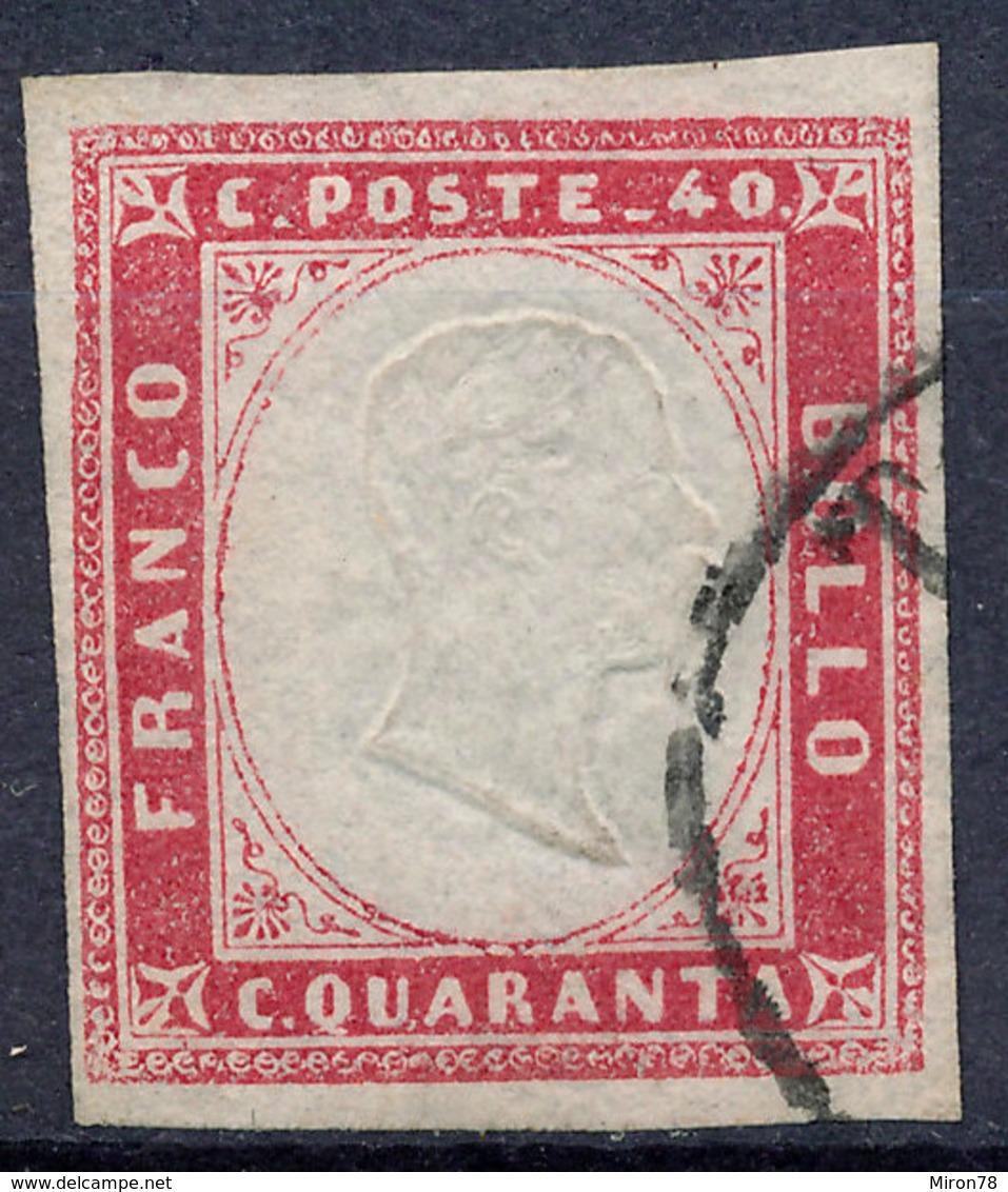 Stamp Italy Sardinia 1855-63 40c Used Lot55 - Sardinia