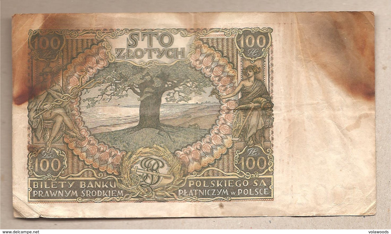 Polonia - Banconota Circolata Da 100 Zloty P-75b - 1934 - Polonia