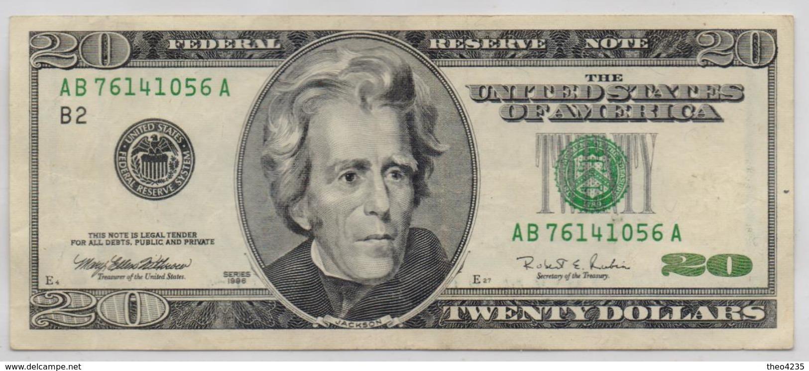 UNITED STATES OF AMERICA BANKNOTE  20 DOLLAR-1996-USED AS SCAN(K) - Bilglietti Della Riserva Federale (1928-...)