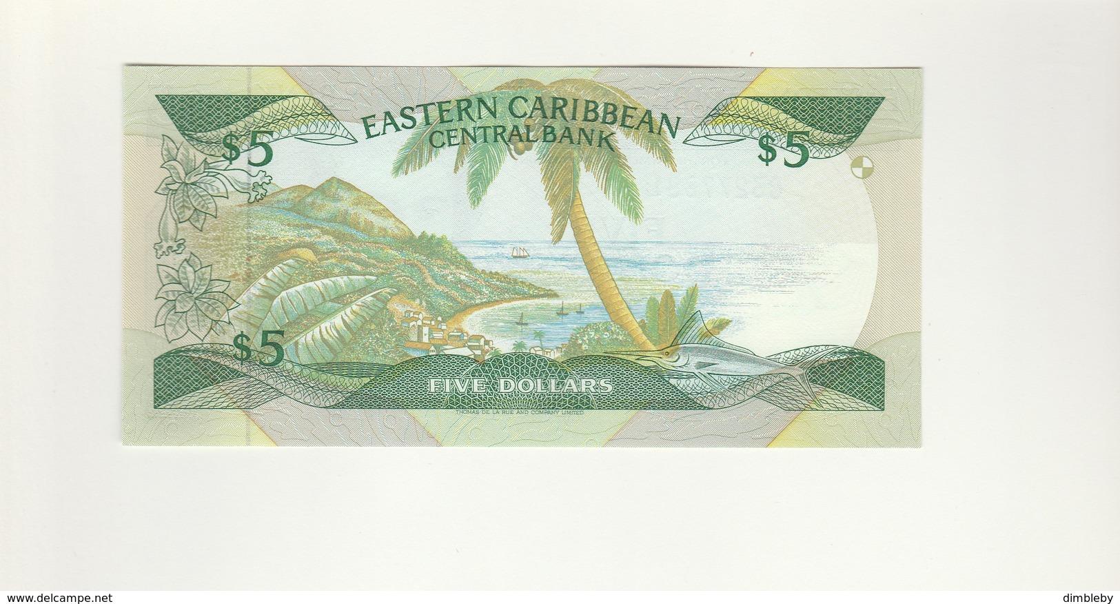 St. Lucia 5 Dollar UNZ - East Carribeans