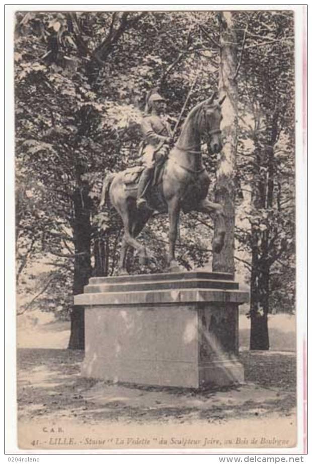 """France 59 - Lille - Statue """" La Vedette""""  Du Sculpteur Joire, Au Bois De Boulogne : Achat Immédiat - Lille"""