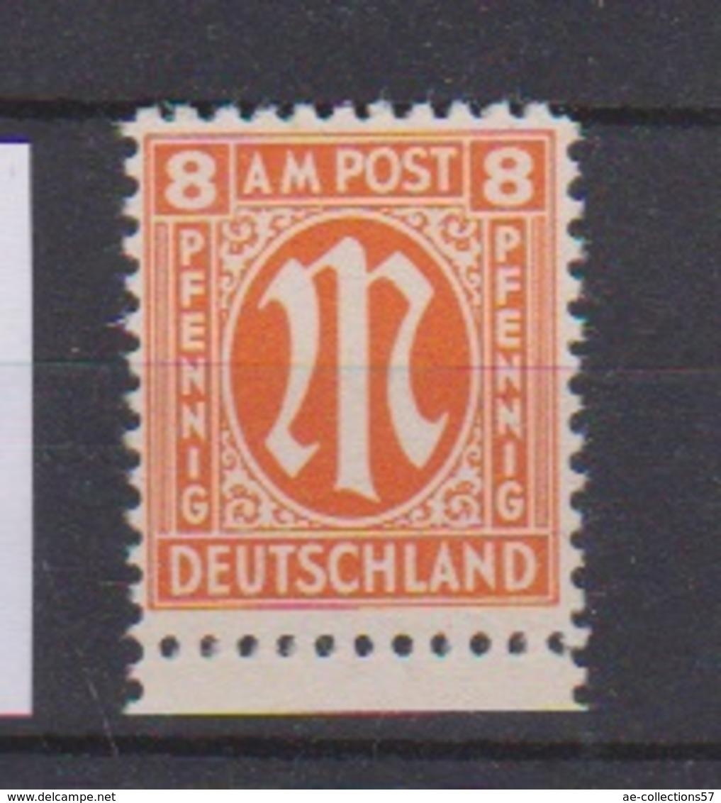 Allemagne  / N 6  / 8 Pf Orange / NEUF** - Neufs
