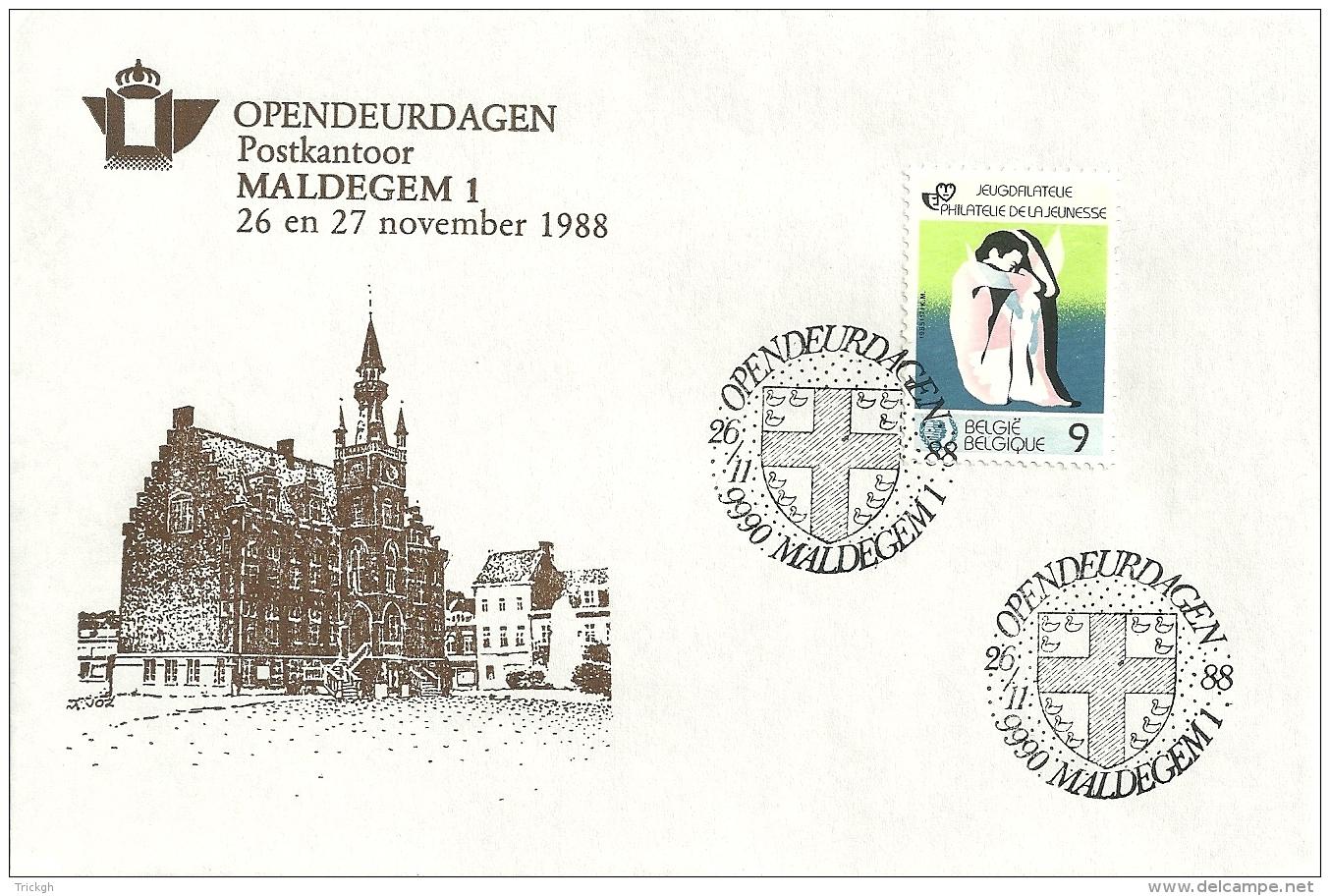 België 1988 Maldegem / Opendeur Portes Ouvertes - Brieven En Documenten