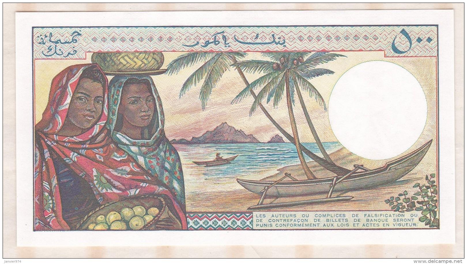 Banque Centrale Des COMORES 500 Francs , Alphabet O.2 ,n° 74432 , Neuf - Comores