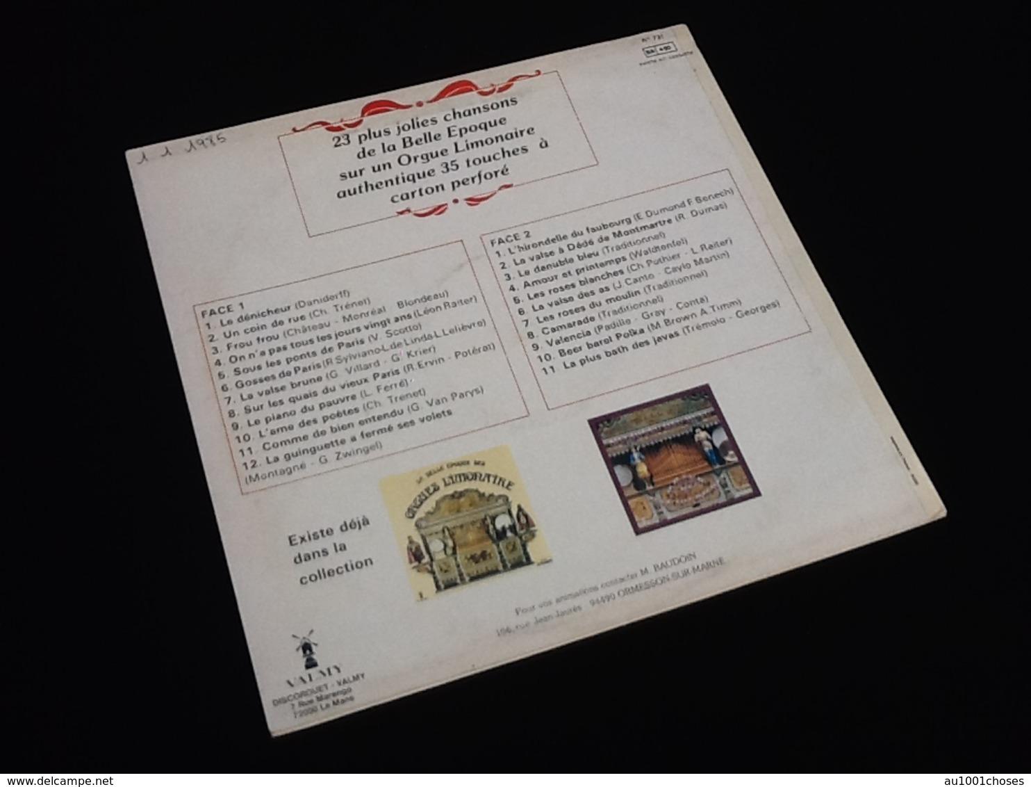 Vinyle 33 Tours  La Belle Epoque Des Orgues Limonaire (1985) - Vinyl Records