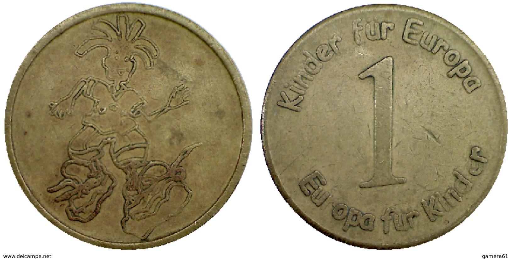 01081 GETTONE JETON TOKEN AMUSEMENT MACHINE KINDER FUR EUROPE - Allemagne