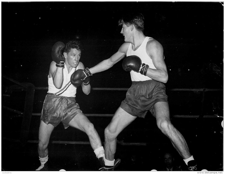 GRANDE PHOTO BOXEUR LEGER  FORMAT  23 X 18 CM - Boxing