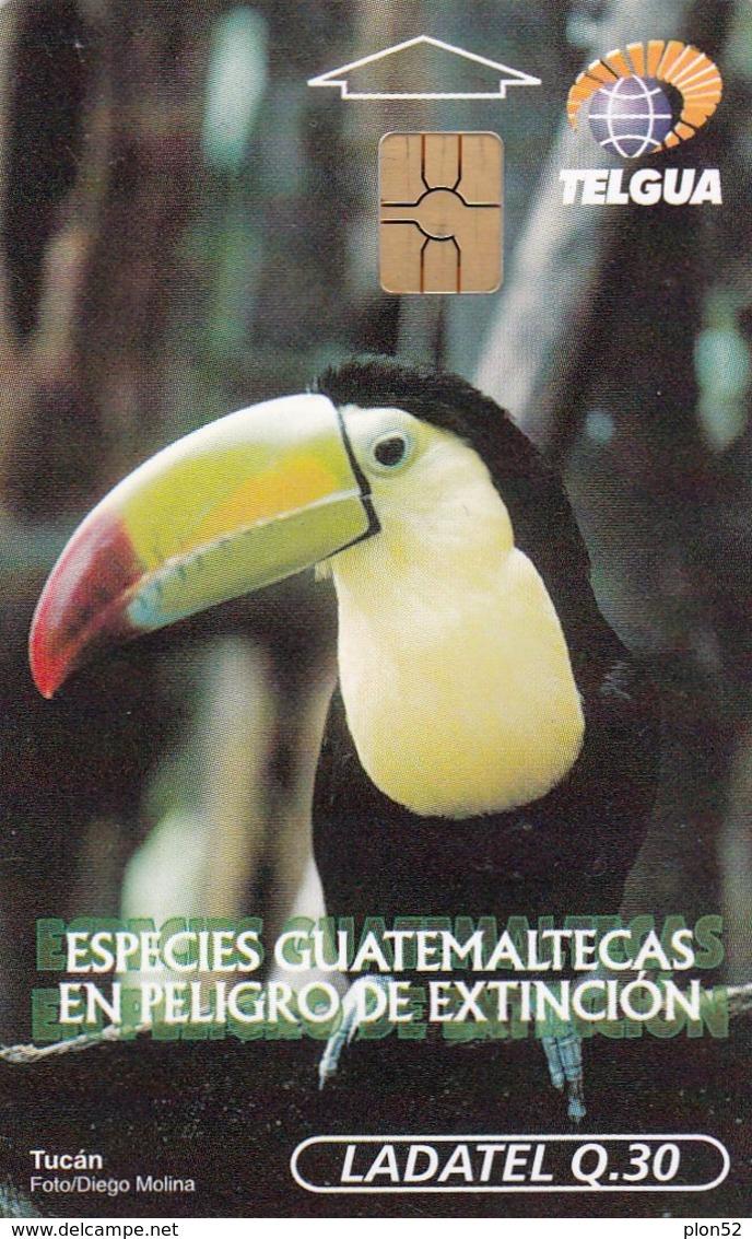 11970- SCHEDA TELEFONICA - UCCELLI - TUCANO - GUATEMALA - USATA - Uccelli