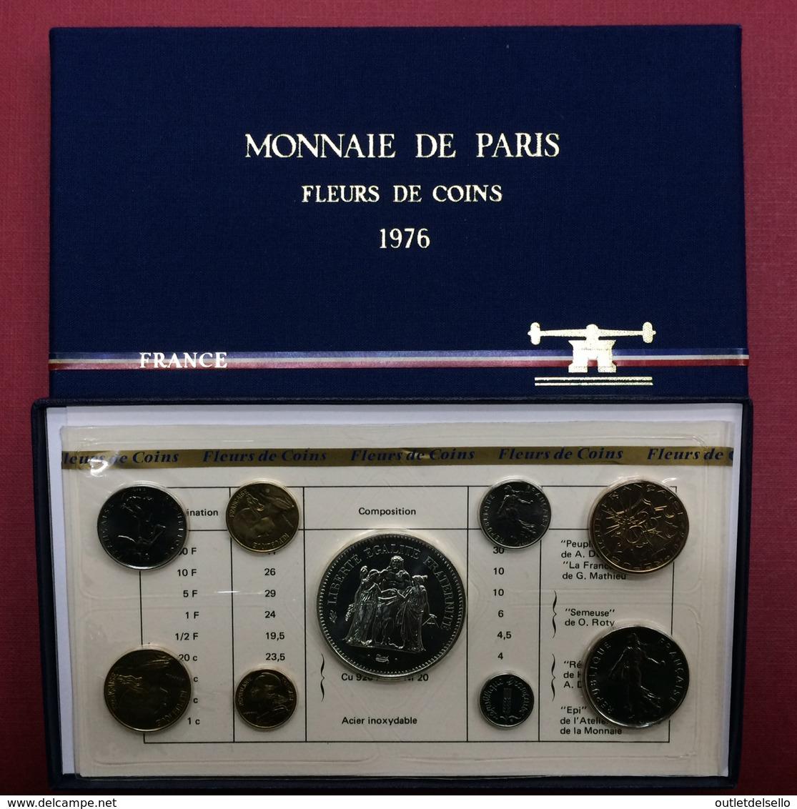 COFFRET FRANCE 1976 FDC OFFICIEL DE LA MONNAIE DE PARIS Avec 50 Francs En Argent - Colecciones