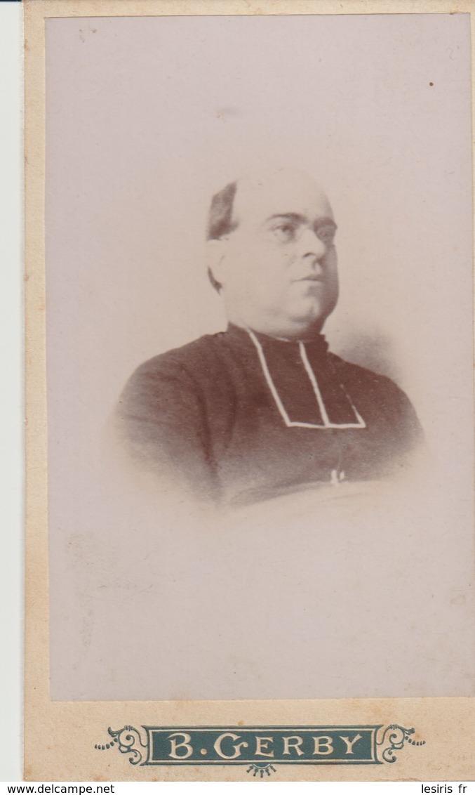 PHOTO SUR CARTON - ECCLÉSIASTIQUE  - B. GERBY - TOULON - MÉDAILLE D'OR BORDEAUX 1892 - Fotos