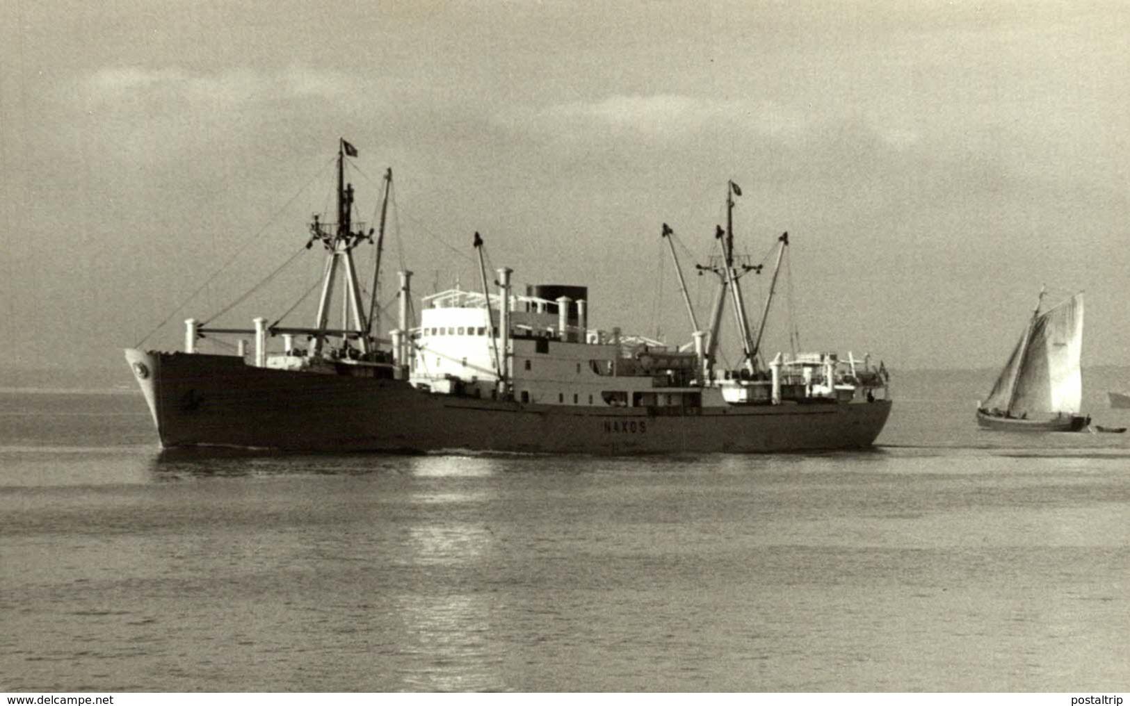 NAXOS 13,5 X 9 Cm  BARCO, BATEAU, SHIP  DINAMARCA, DENMARK, DANEMARK - Barcos