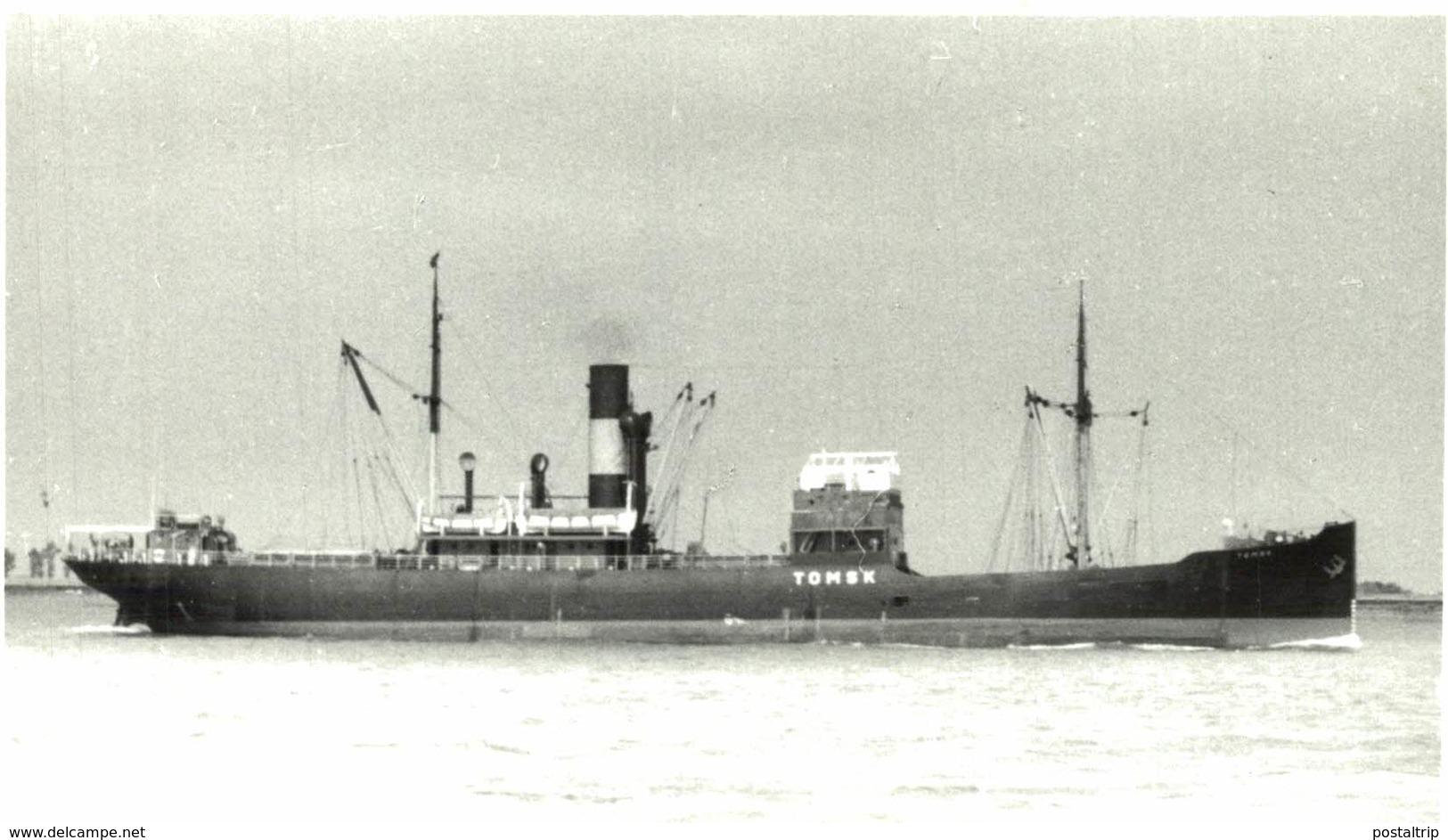 TOMSK 13,5 X 9 Cm  BARCO, BATEAU, SHIP  DINAMARCA, DENMARK, DANEMARK - Barcos