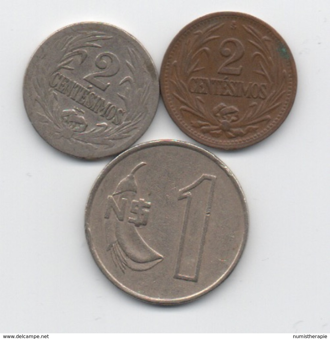 Paraguay : Lot De 3 Pièces 1924-1980 - Paraguay