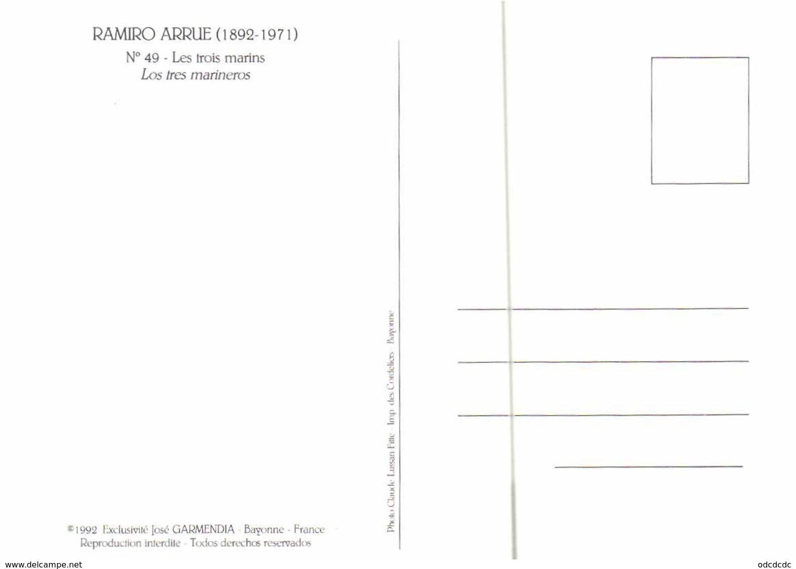 Ramiro Arrue Les Trois Marins Los Tres Marineros  RV - Unclassified