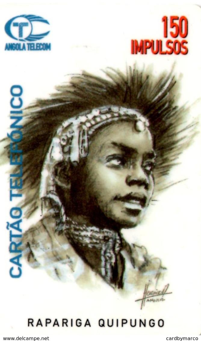 *ANGOLA* - Scheda A Chip Usata - Angola