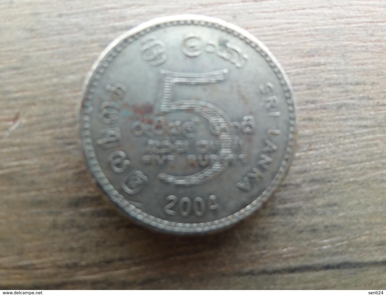 Sri Lanka 5  Rupees  2004 Km 148 - Sri Lanka