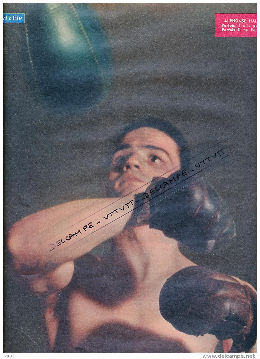 BOXE : PHOTO,  ALPHONSE HALIMI, PARFOIS IL A LE PUNCH, PARFOIS IL NE L'A PAS, COUPURE REVUE  (1957) - Collections