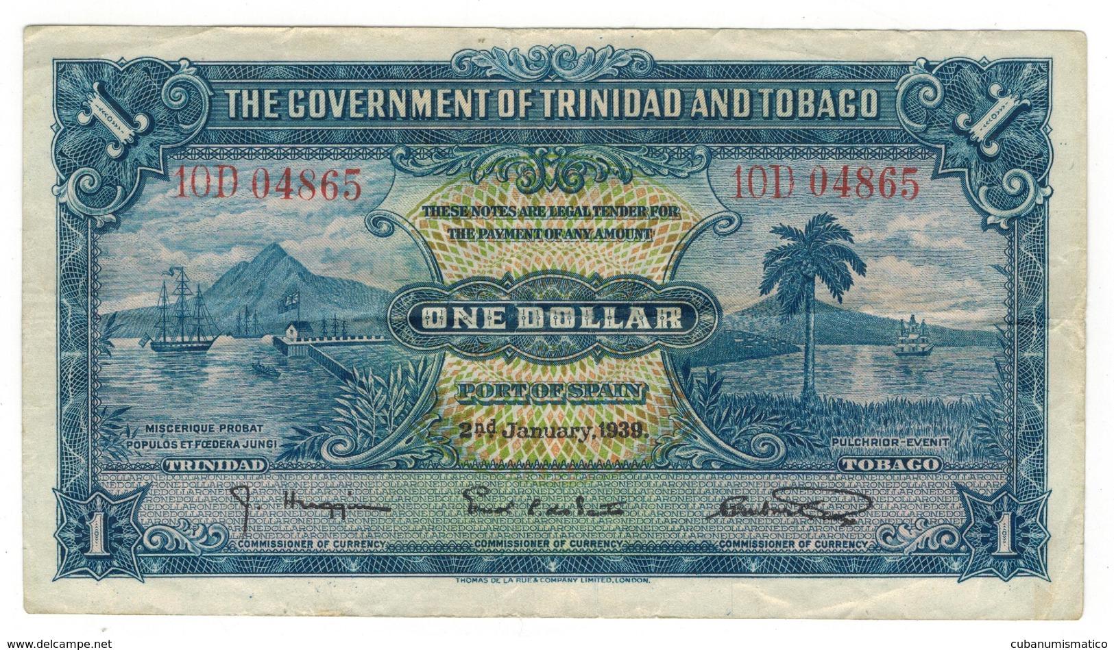 Trinidad & Tobago 1 Dollar 1939, Crisp VF. - Trinité & Tobago