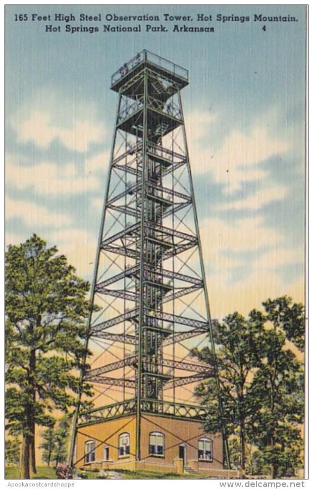 Arkansas Hot Springs 165 Feet High Steel Tower Hot Springs Mount