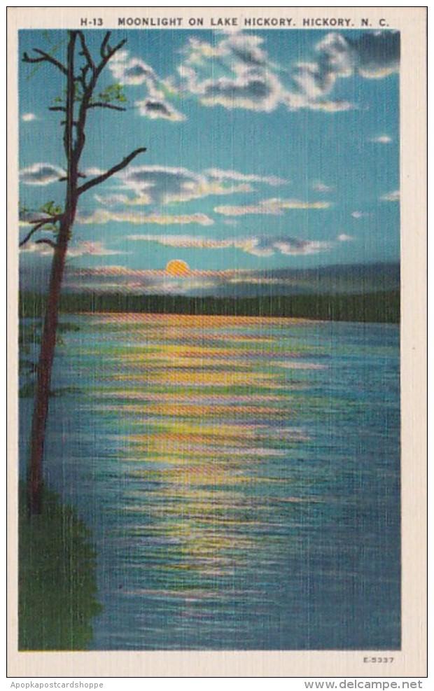 North Carolina Hickory Moonlight On Lake Hickory