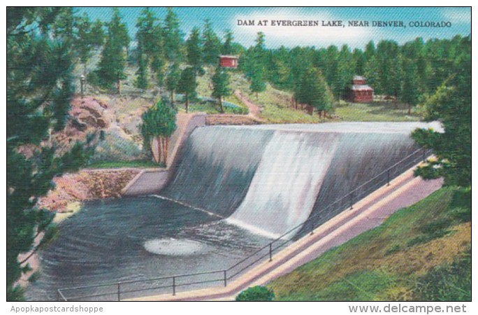 Colorado Dam At Evergreen Lake Near Denver
