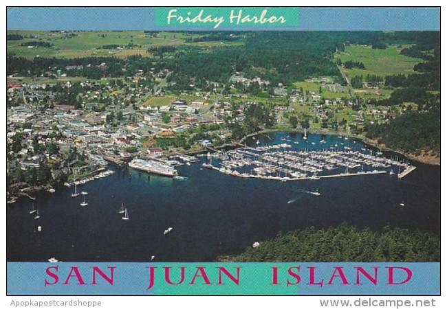 Washington San Juan Island Friday Harbor Aerial View