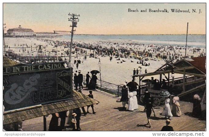 New Jersey Beach and Boardwalk 1910 Curteich