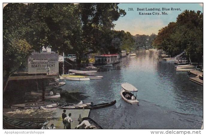 Missouri Kansas City Boat Landing Blue River 1912