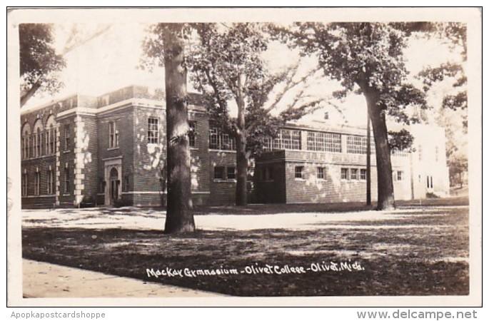 Michigan Olivet MacKay Gymnasium Olivet College 1939 Real Photo