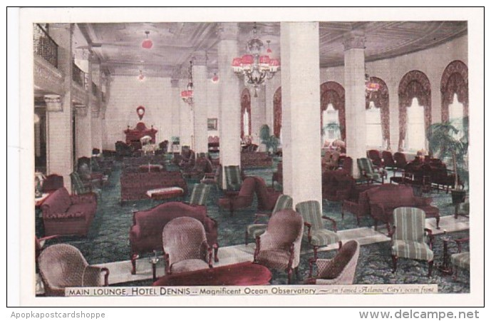 New Jersey Atlantic City Hotel Dennis Main Lounge